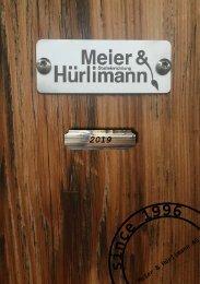 Katalog 2019 Meier & Hürlimann AG