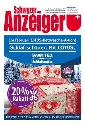 Schwyzer Anzeiger – Woche 3 – 18. Januar 2019