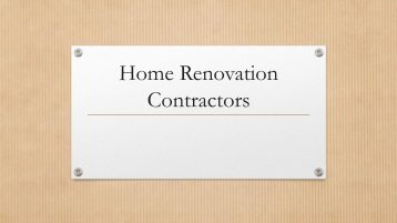 Best Home Renovation Contractors Calgary