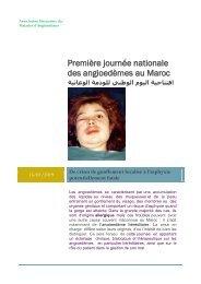 Première journée nationale des Angioedèmes au Maroc