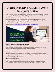 +1 (800) 796-0471 QuickBooks 2019 Non-profit Edition