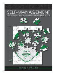 Self–Management Using Behavioral and Cognitive Principles