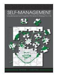 Self–Management Using Behavioral and Cognitive Principles
