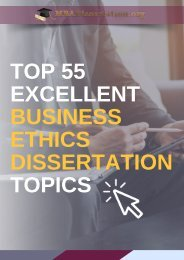 The Best Business Ethics Dissertation Topics