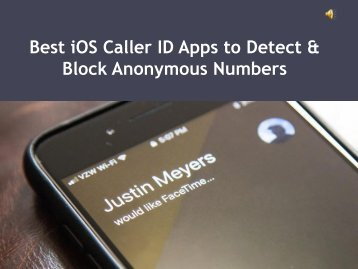 Best iOS Caller ID Apps to Detect & Block Anonymous Numbers