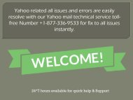 Technical Service Support For Yahoo +1-877-336-9533 Toll-Free Number