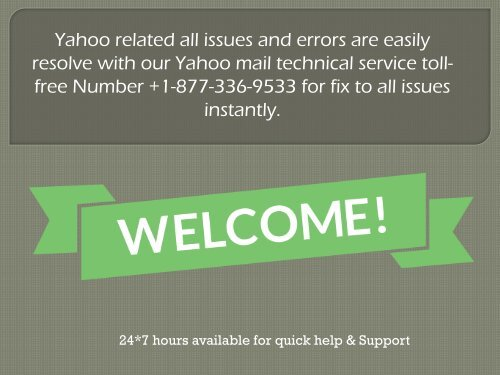 Technical Service Support For Yahoo 1877-503-0107 Toll-Free Number