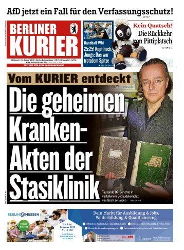 Berliner Kurier 16.01.2019