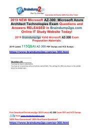 [2019-Jan-Version]New AZ-300 VCE and AZ-300 PDF Dumps 115Q Free Share(Q24-Q34)