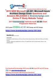 [2019-Jan-Version]New AZ-301 PDF and AZ-301 VCE Dumps 65Q Free Share(Q19-Q28)