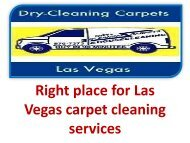 Right place for Las Vegas carpet cleaning services