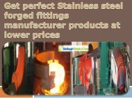Get perfect Stainless steel forged fittings manufacturer products at lower prices