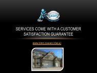 Services Come With a Customer Satisfaction Guarantee