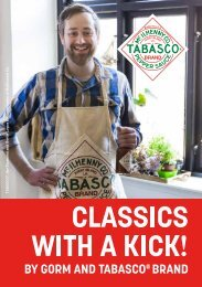 Classics with a kick! By Gorm and TABASCO® Brand