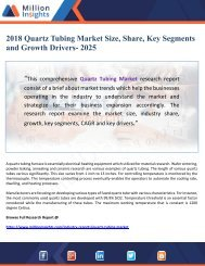 2018 Quartz Tubing Market Size, Share, Key Segments and Growth Drivers- 2025