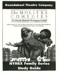 The Moliere Comedies - Roundabout Theatre Company
