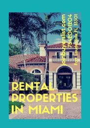 Rental Properties In Miami -JoinBuyersList.com