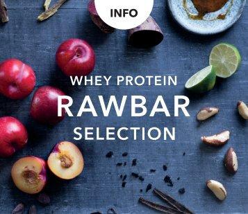 Whey Protein Rawbar Selection