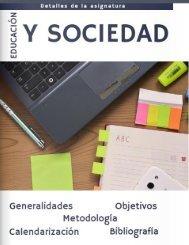 Generalidades y calendarización Educ y Soc