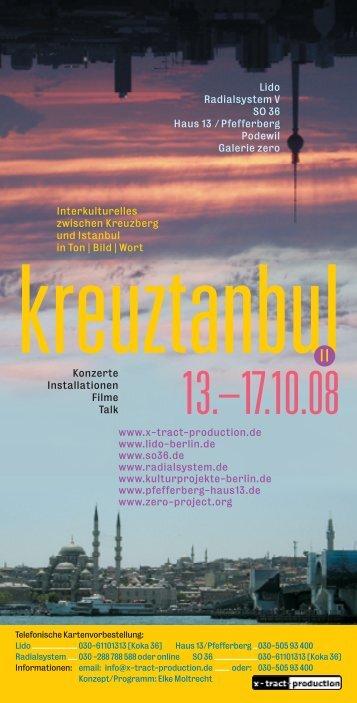 Konzerte Installationen Filme Talk Lido Radialsystem V SO 36 Haus ...