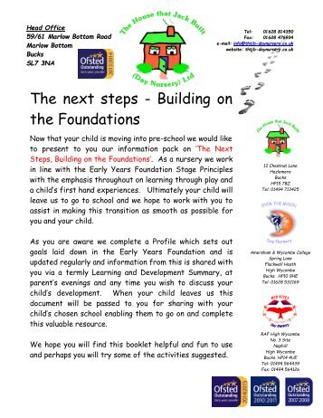 The Next Steps - Building on the Foundations