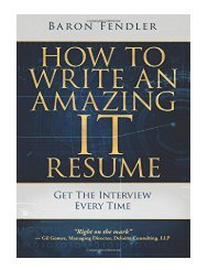 How to Write an Amazing IT Resume Get the Interview Every Time