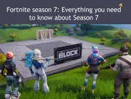 Fortnite season 7: Everything you need to know about Season 7
