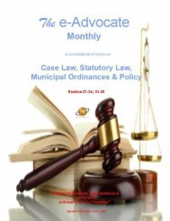 Case Law, Statutory Law, Municipal Ordinances & Policy