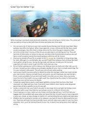 Great Tips for Better Trips