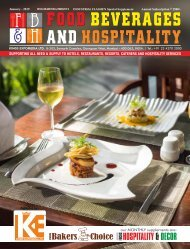 Food Beverages and Hospitality January 2019