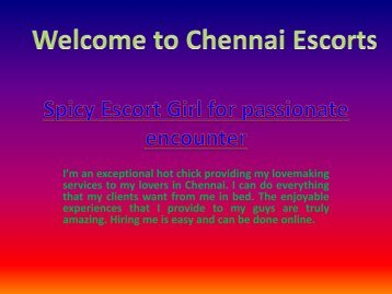 Spicy Escort Girl for passionate encounter