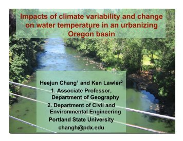 Presentation - Oregon Climate Change Research Institute