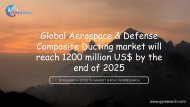 Global Aerospace & Defense Composite Ducting market will reach 1200 million US$ by the end of 2025