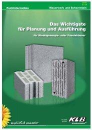 Das Wichtigste für Planung und Ausführung 2009 - KLB ...