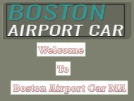 Boston Airport Car MA