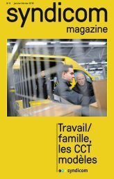 syndicom magazine No 9 - Travail/famille, les CCT modèles
