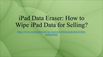 How to Wipe iPad Data for Selling