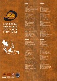 LIVE DESIGN DISCOURSE THE ESSENTIAL FRAMEWORK 2 0 1 7 - 2 0 1 8
