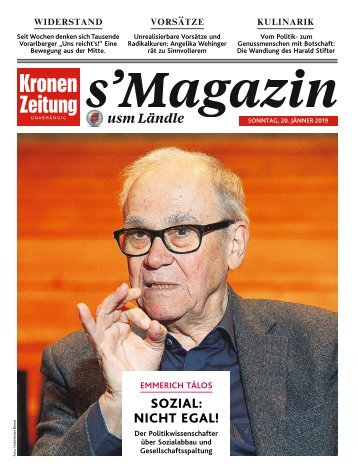 s'Magazin usm Ländle, 20. Januar 2019