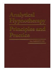 Analytical Hypnotherapy Principles and Practice