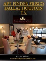 APT Finder Frisco Dallas Houston TX