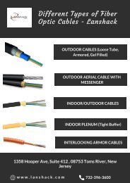 Different Types of Fiber Optic Cables – Lanshack