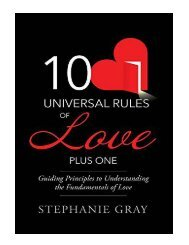 10 Universal Rules of Love Plus One Guiding Principles to Un