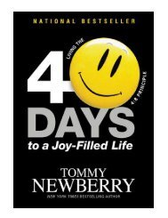 40 Days to a Joy-Filled Life Living the 48 Principle