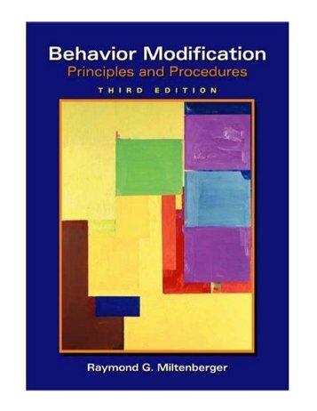 Behavior Modification Principles and Procedures