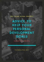 Advice To Help Your Personal Development Goals