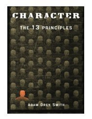 The Character The 13 Principles