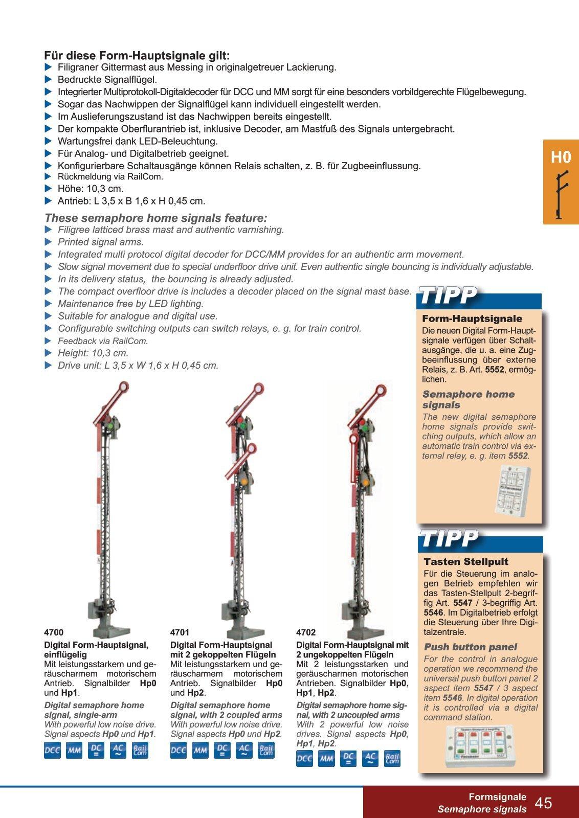 Viessmann 5546 Tasten-Stellpult 3-begriffig