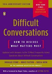 Difficult Conversations: How to Discuss What Matters Most (Douglas Stone)