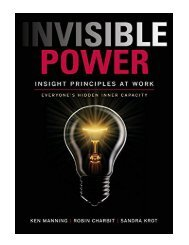 Invisible Power Insight Principles at Work
